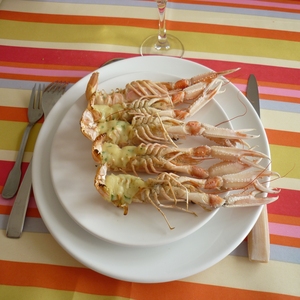 Langoustines sauce thermidor